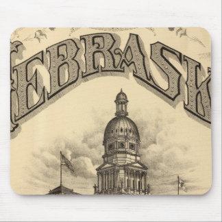 Página de título del atlas de Nebraska Tapetes De Raton