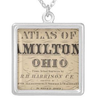 Página de título del atlas del condado de Hamilton Collar