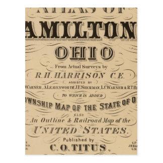 Página de título del atlas del condado de Hamilton Tarjetas Postales