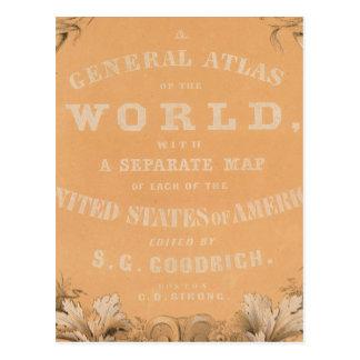 Página de título del atlas general del mundo postal