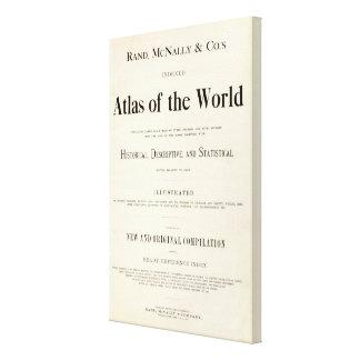 Página de título del atlas puesto en un índice lona estirada galerias