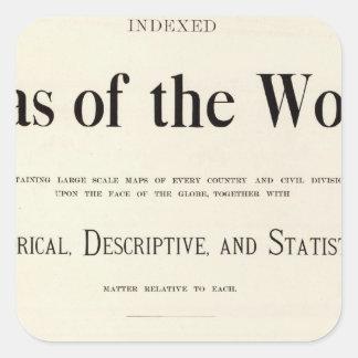 Página de título del atlas puesto en un índice