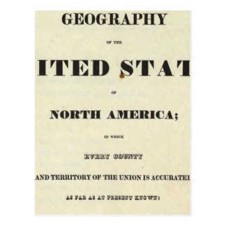 Página de título del nuevo atlas americano postal