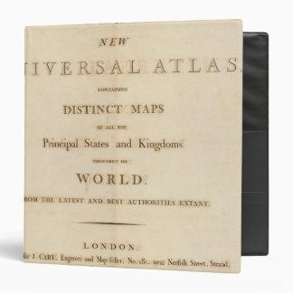 """Página de título del nuevo atlas universal carpeta 1 1/2"""""""