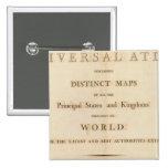 Página de título del nuevo atlas universal pin