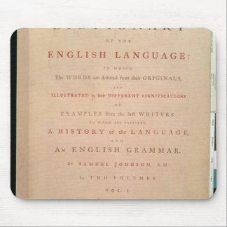 Página de título del volumen I del inglés Tapetes De Raton