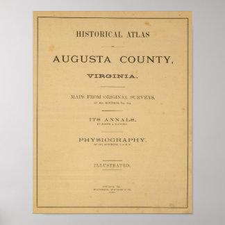 Página de título el condado de Augusta, Virginia Póster