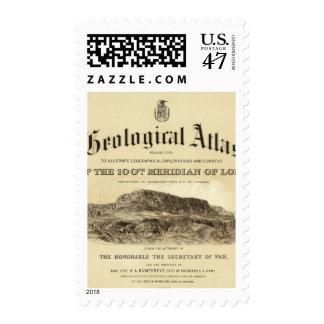 Página de título geológica del atlas sello postal