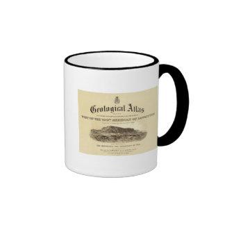 Página de título geológica del atlas taza de café