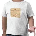 Página de título histórica del mapa camiseta