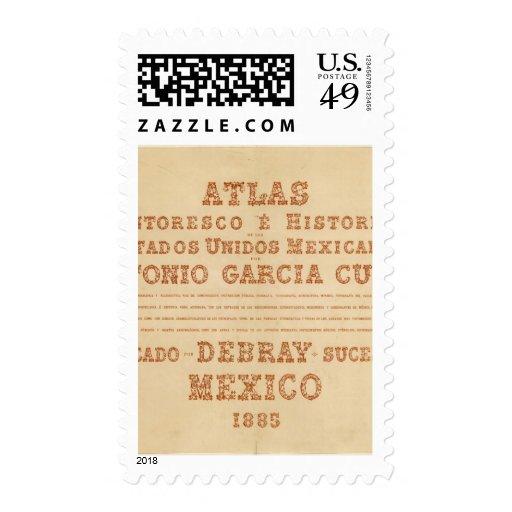 Página de título histórica del mapa sellos