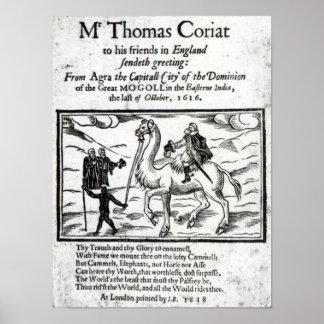 Página de título, travles de Thomas Coryat en la I Póster