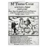 Página de título, travles de Thomas Coryat en la I Tarjetón