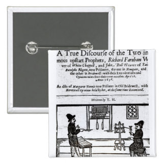 Página de título 'un discurso verdadero del Two� Pin Cuadrada 5 Cm