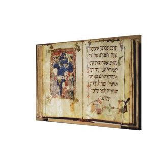 Página de un Haggadah Lona Estirada Galerías