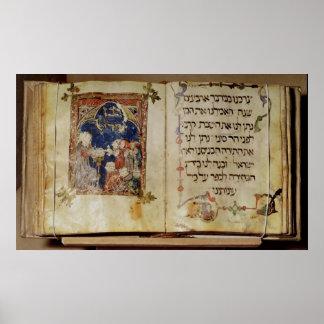 Página de un Haggadah Póster