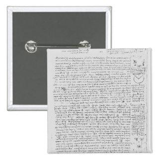 Página del códice Leicester, 1508-12 Pin Cuadrado