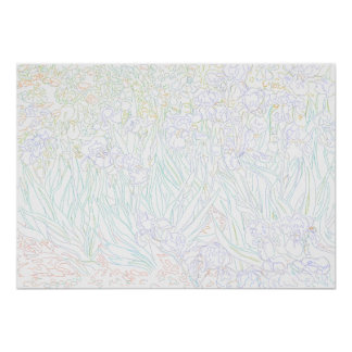 Página del colorante - iris Van Gogh Posters