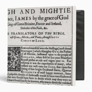 Página del esmero en 'el Bible santo