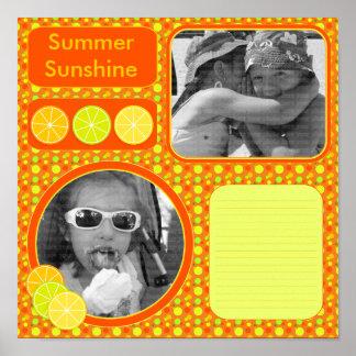 Página del libro de recuerdos de la fruta cítrica  posters