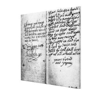 Página del manuscrito impresion de lienzo
