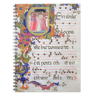 """Página del ms 557 f.61v con """"U inicial historiated Libro De Apuntes Con Espiral"""