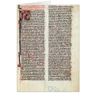 """Página del """"Somme de Theologie' Tarjeta De Felicitación"""