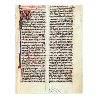 """Página del """"Somme de Theologie' Tarjetas Postales"""