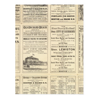 Página del texto del ferrocarril de Boston y de Ma Postal