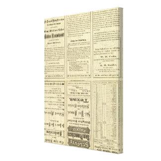 Página del texto del ferrocarril de St. Louis y de Impresiones De Lienzo