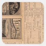 Página del texto del ferrocarril del valle de calcomanías cuadradas personalizadas