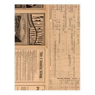 Página del texto del ferrocarril del valle de postal
