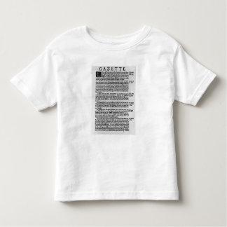 Página del texto del 'La Gazette Tee Shirts