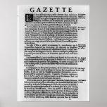 Página del texto del 'La Gazette Poster