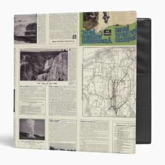 "Página del texto del parque nacional 2 de Yellowst Carpeta 1 1/2"""