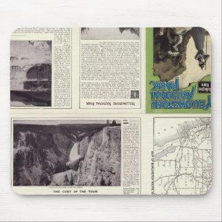 Página del texto del parque nacional 2 de Yellowst Alfombrillas De Ratones