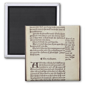 Página del texto del viejo testamento imán cuadrado