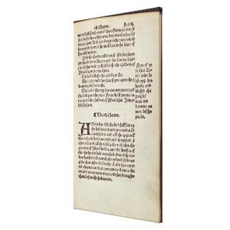 Página del texto del viejo testamento impresiones en lona estiradas