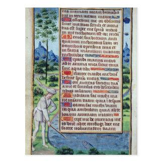 Página del texto latino con la frontera postales
