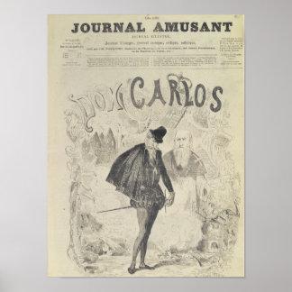 Página delantera de 'Le Journal Amusant' Póster