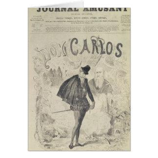 Página delantera de 'Le Journal Amusant' Tarjeta De Felicitación