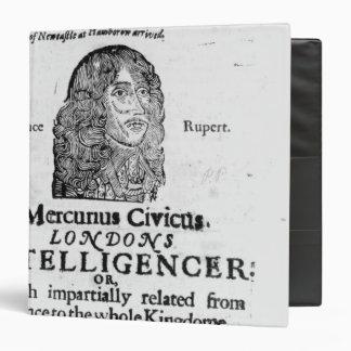 """Página delantera de 'Mercurius Civicus Carpeta 1 1/2"""""""