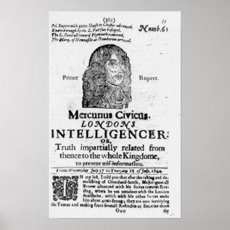 Página delantera de 'Mercurius Civicus Póster