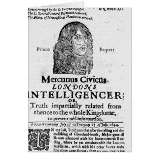 Página delantera de 'Mercurius Civicus Tarjeta De Felicitación