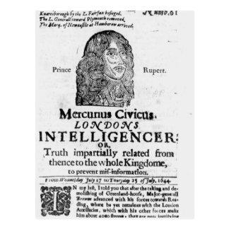 Página delantera de 'Mercurius Civicus Tarjetas Postales