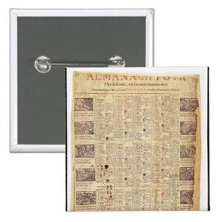 Página delantera de un almanach para 1653 pin cuadrado