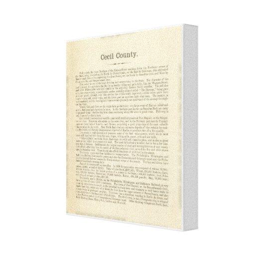 Página el condado de Cecil del texto Impresión En Lona