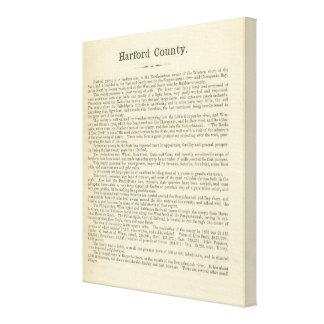 Página el condado de Harford del texto Impresion En Lona