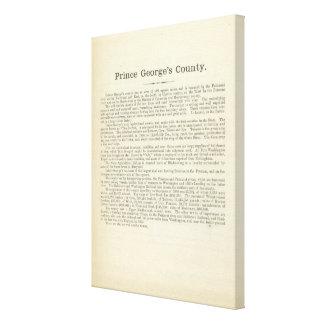 Página el condado de Prince George's del texto Impresión En Lona