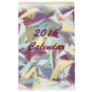 Página en colores pastel del arte abstracto de calendarios